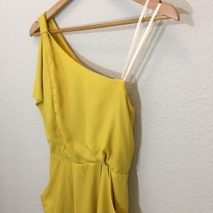 BCBG One Shoulder Dress with Pockets Small